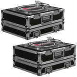 (2) Odyssey FR1200E Flight Ready Turntable Cases