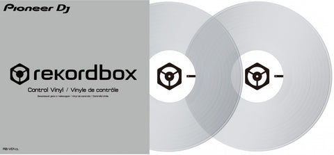 "CLEAR 12"" Rekordbox Control Vinyl (Pair)"