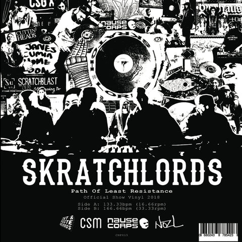 "Path of Least Resistance: ScratchLords - Red Vinyl - 12"" Scratch Record - Cut & Paste Records"