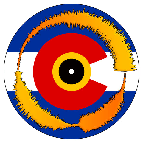"Colorado Flag Visual Vinyl 7"" Scratch Record"