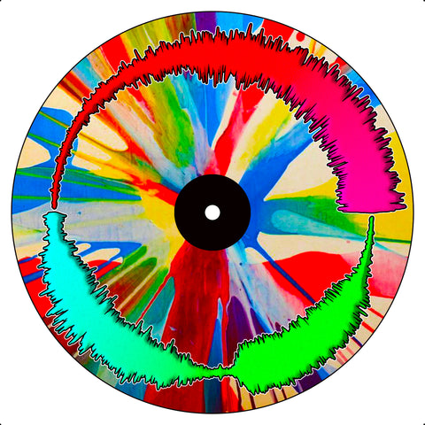 "Spin Art Visual Vinyl 7"" Scratch Record"