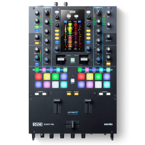 Rane SEVENTY-TWO Battle-Ready 2-channel DJ Mixer with Touchscreen