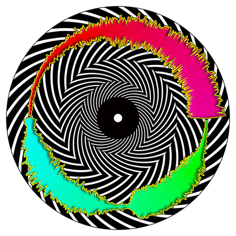 "Trippy Spiral Visual Vinyl 7"" Scratch Record"