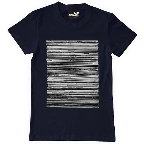 Vinyl Junkie T-Shirt - Navy Blue