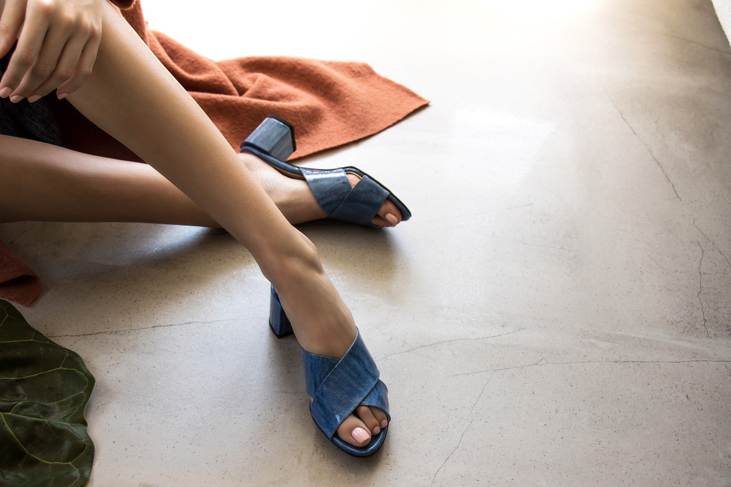 CROSS MULES, DENIM