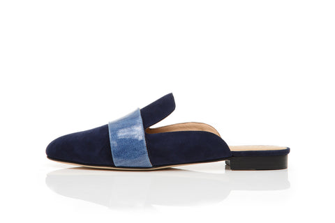 LOUNGE LOAFER, NAVY DENIM