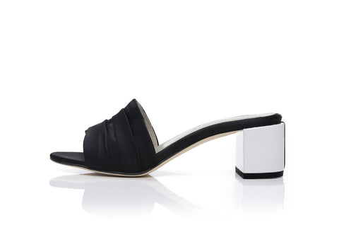 EVA MULES, BLACK + WHITE