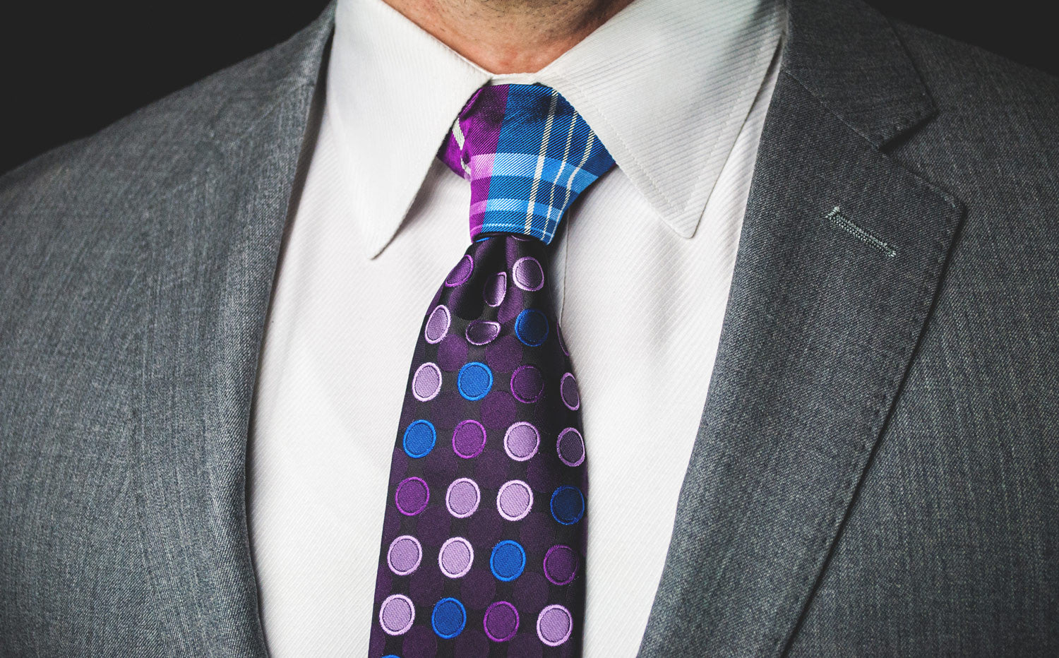 The Blue & Purple Plaid Proper Knot™