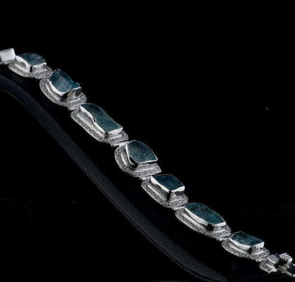 Rough Aquamarine Bracelet