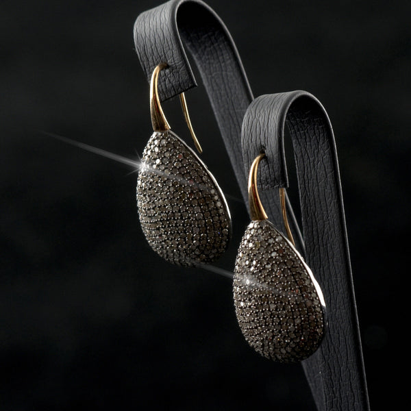 Diamond Pears Earrings
