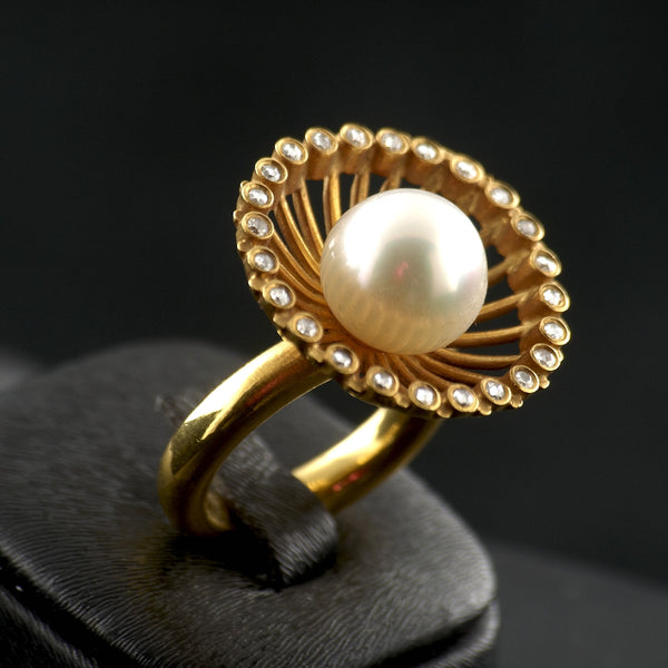 Clam Pearl Ring