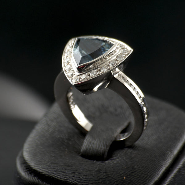Aqua Triangle Ring