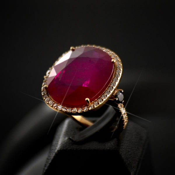 Ruby  Polygon Ring