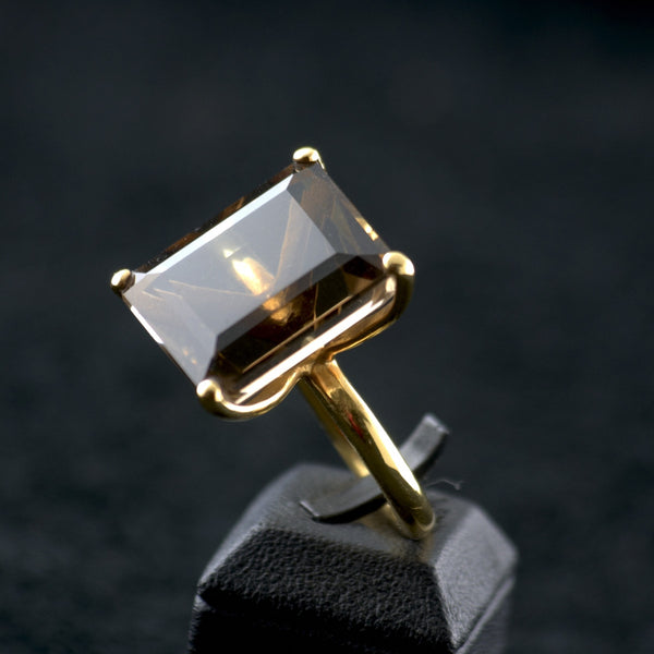 Brown Topaz Ring