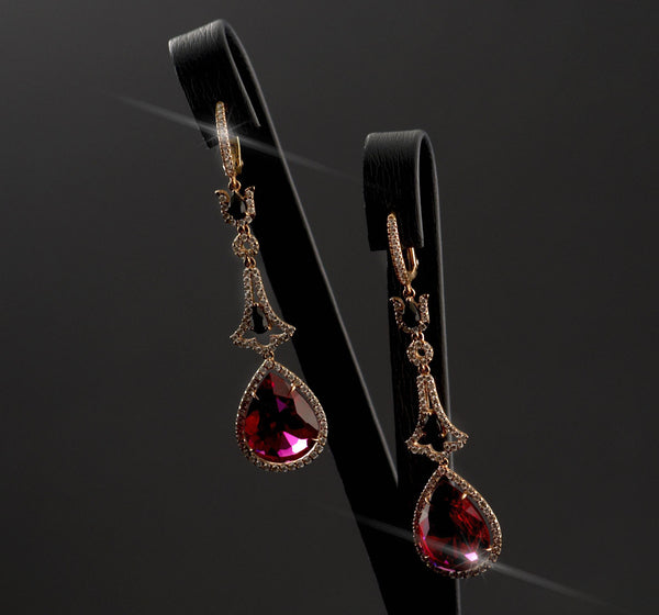 Ruby  Droplets Earrings