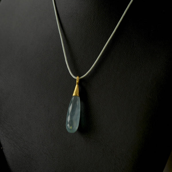 Aquamarine Drop Pendant