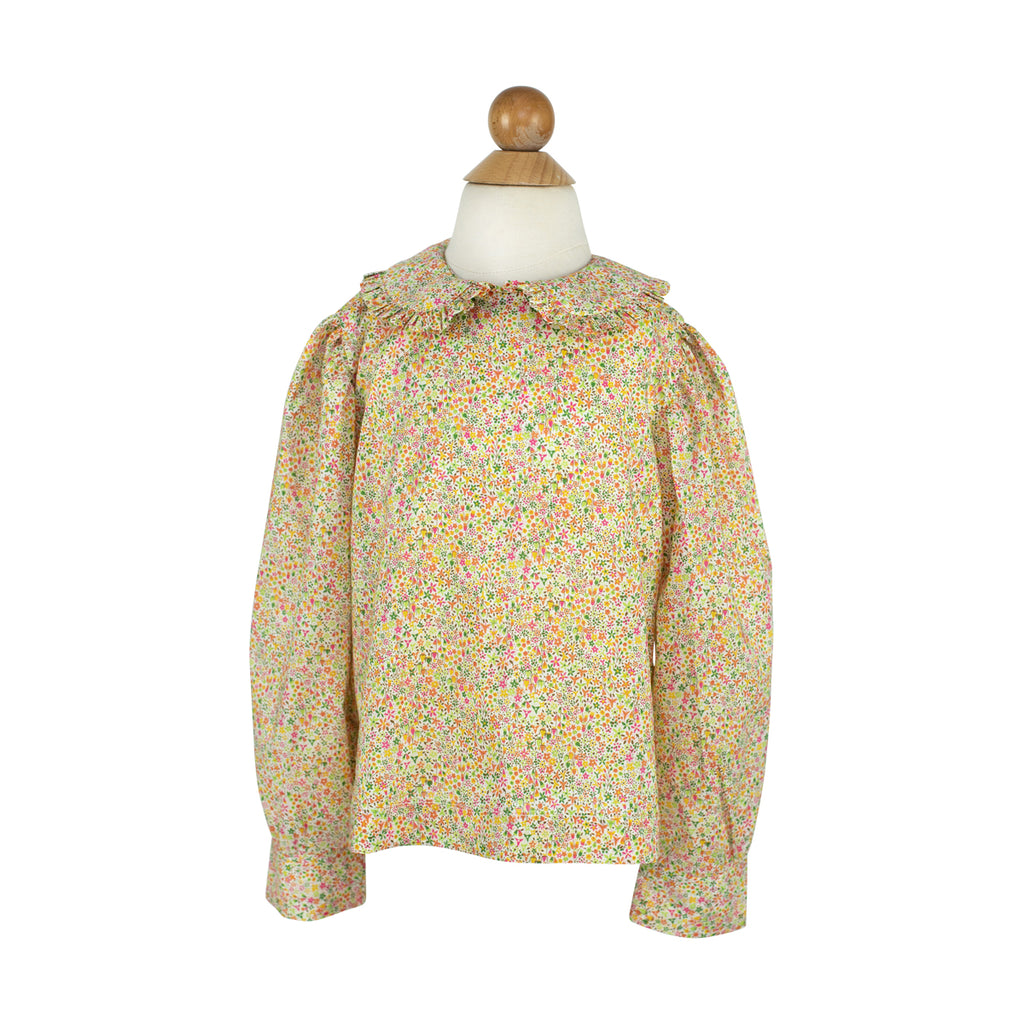 Alice Longsleeve Blouse (No Pocket)- Liberty Yellow Floral-RBF