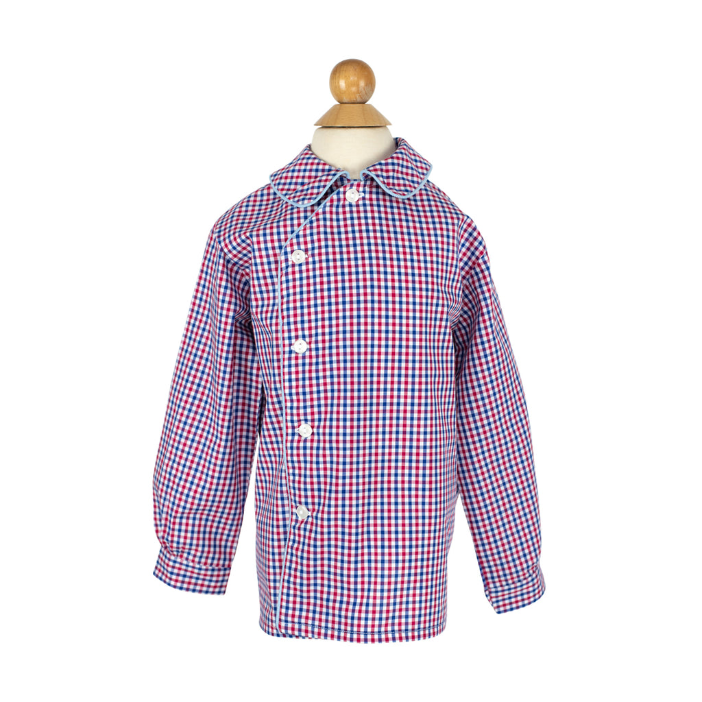 Henry Longsleeve Shirt- Sample Size 4 in Patriotic Plaid