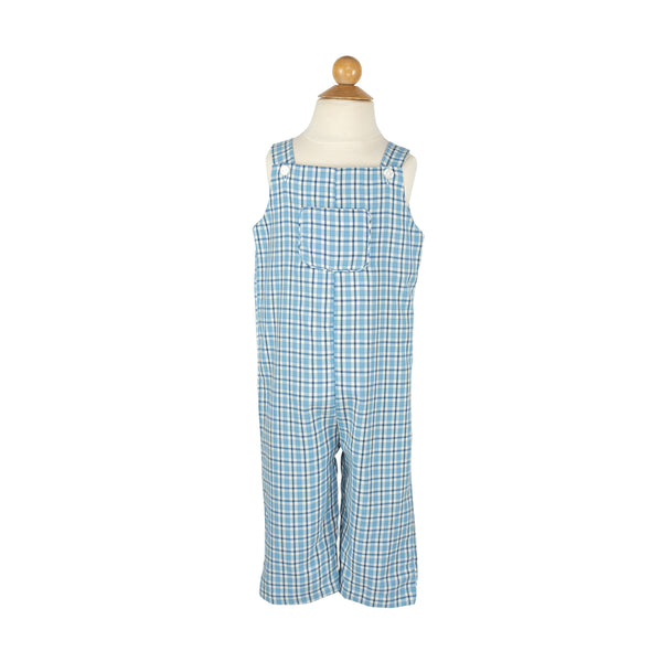 Edward Overall- Sample Size 3 in Blue and Blue Plaid