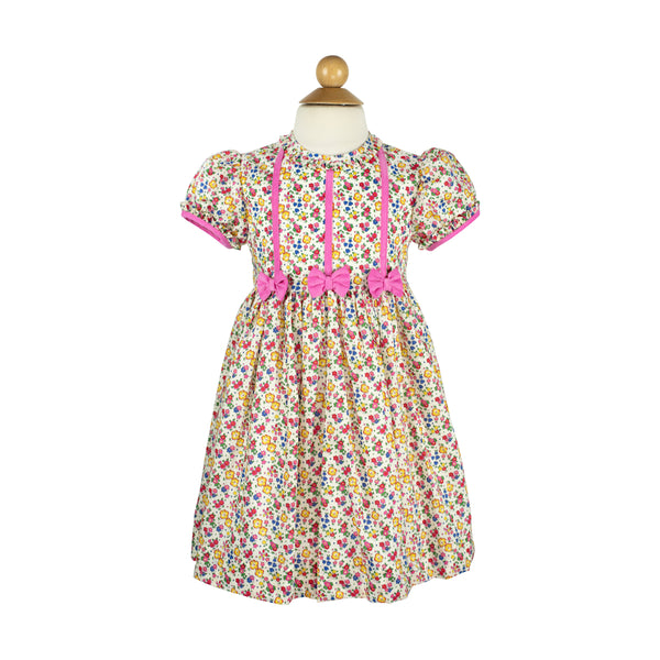 Bow Dress- Sample Size 5 in Liberty Primary Floral
