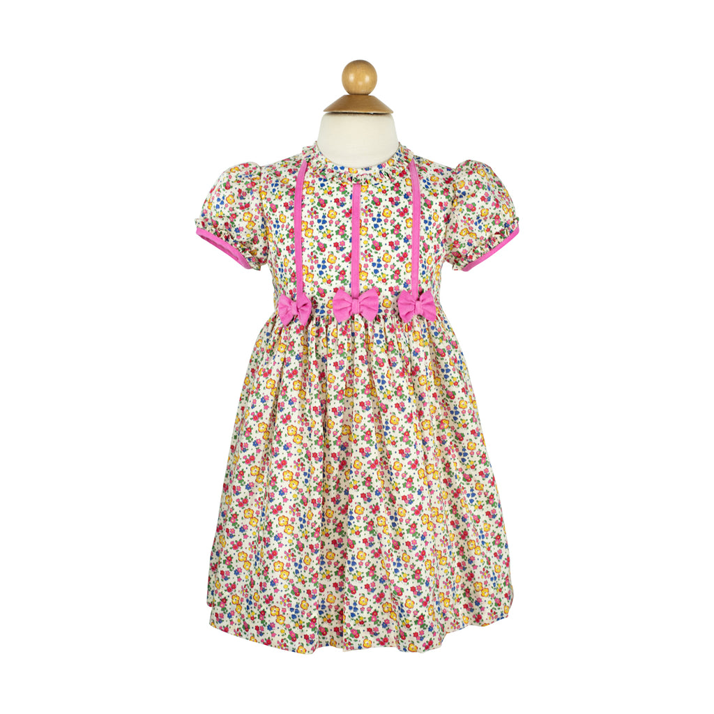 Bow Dress- Liberty Primary Floral- RBF