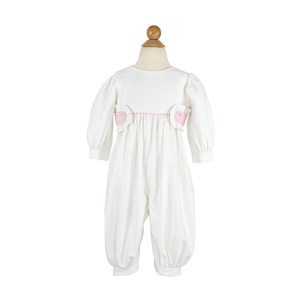 Madeline Long Bubble- Sample Size 18m in White Corduroy