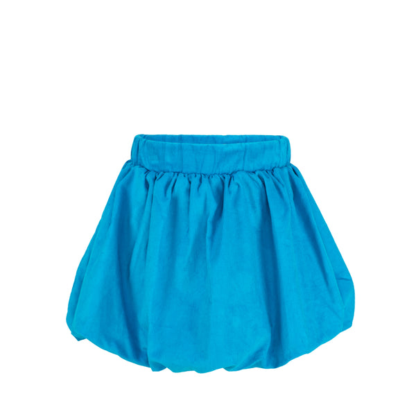 Wendy Skirt- Sample Size 5 in Turquoise Corduroy