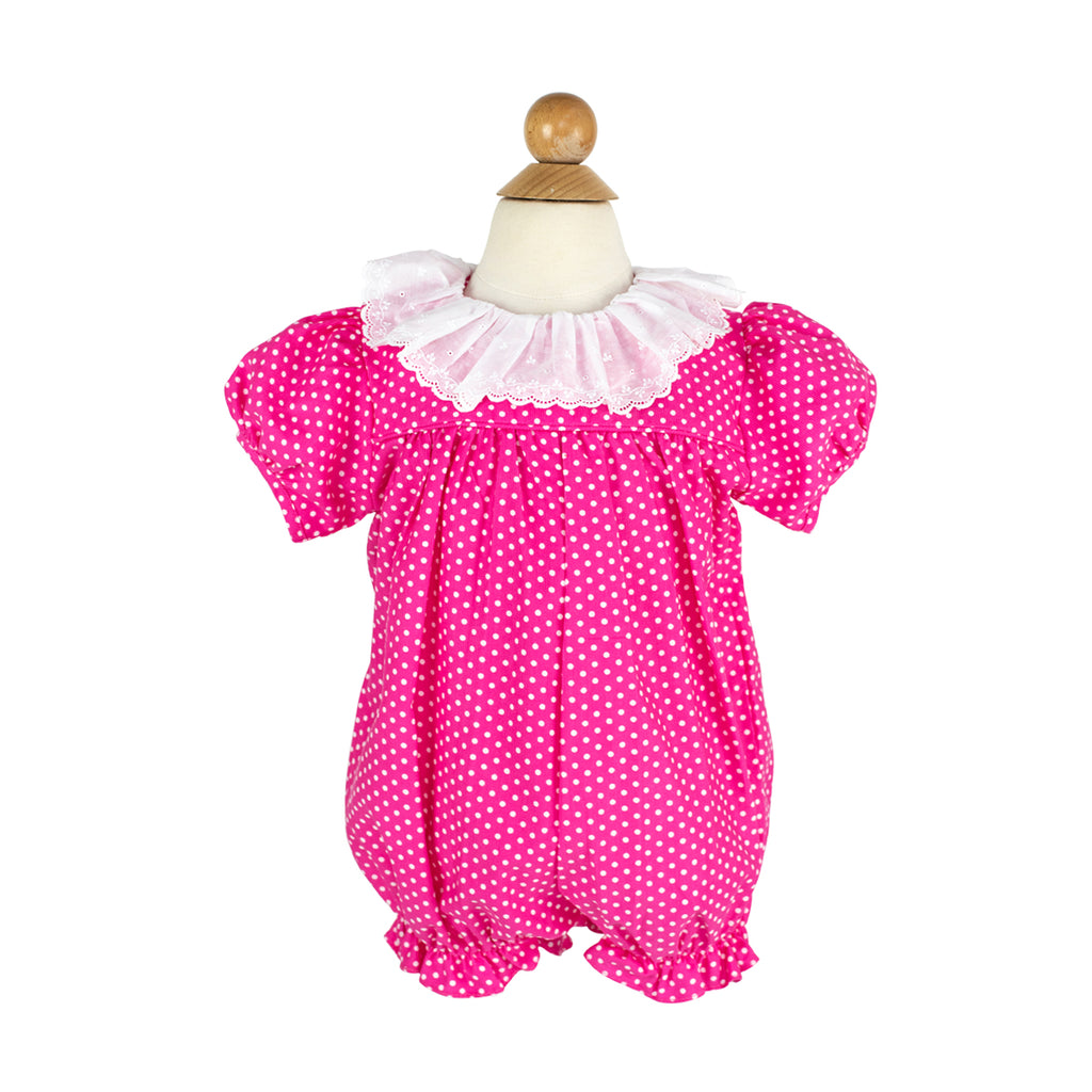 Tracie Bubble- Sample Size 2 in Hot Pink Polka Dot Corduroy