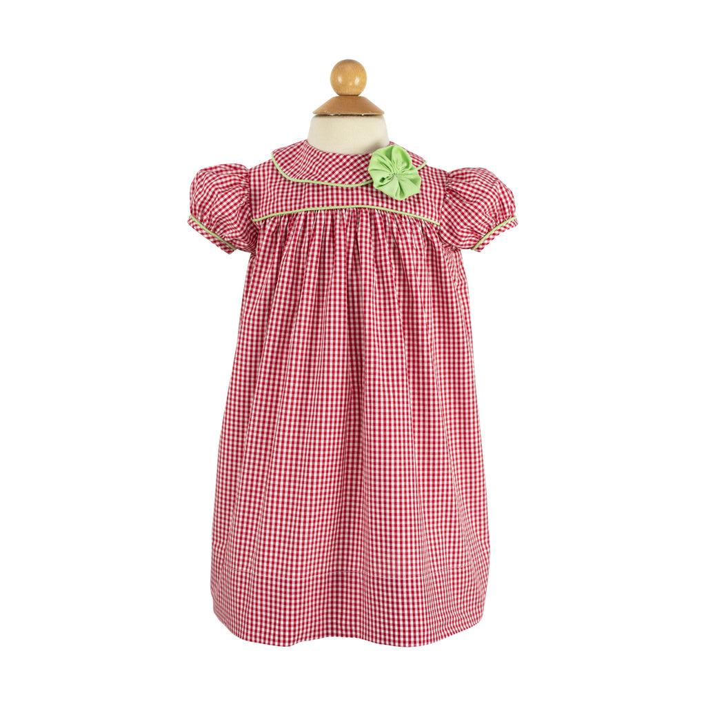 Amelie Dress- Sample Size 3 in Red Gingham