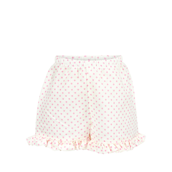 Missy Short Sample Size 3 Ivory Linen with Pink Dots