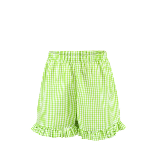 Missy Short Sample Size 3 Sprout Gingham