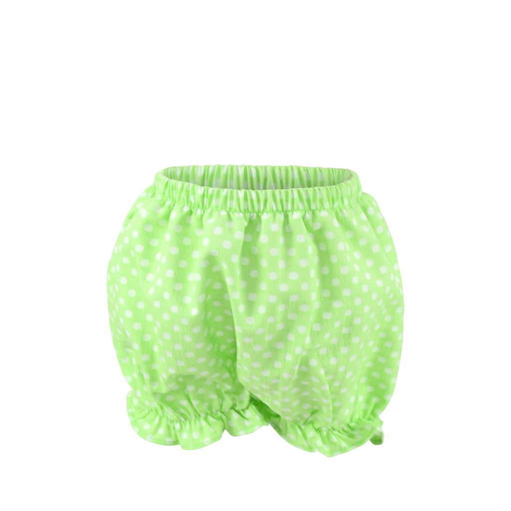 Rosie Bloomer Shorts Sample Size 3 Lime Dots