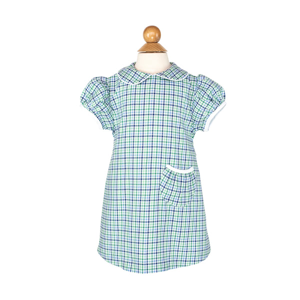 Mollie Dress Sample- Size 2 in Blueberry Plaid
