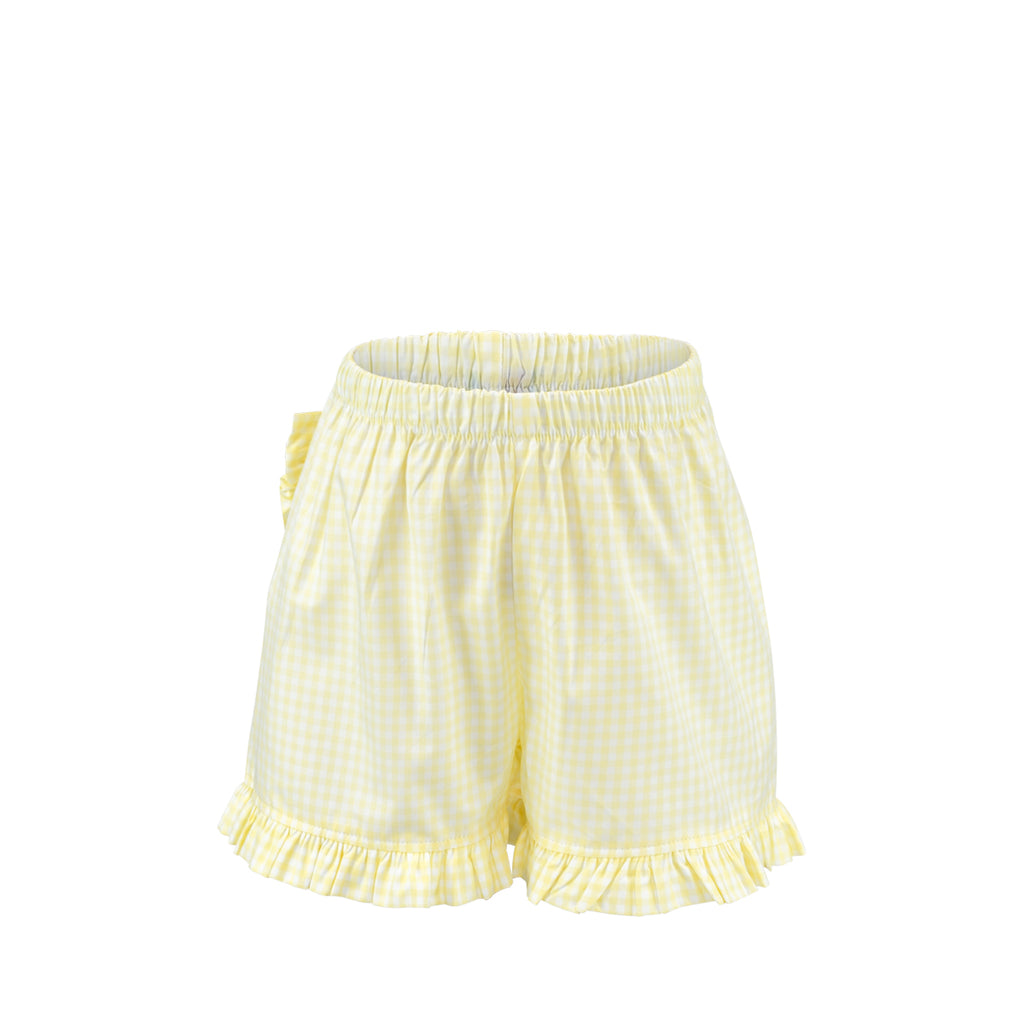 Missy Short Sample Size 4 Yellow Gingham