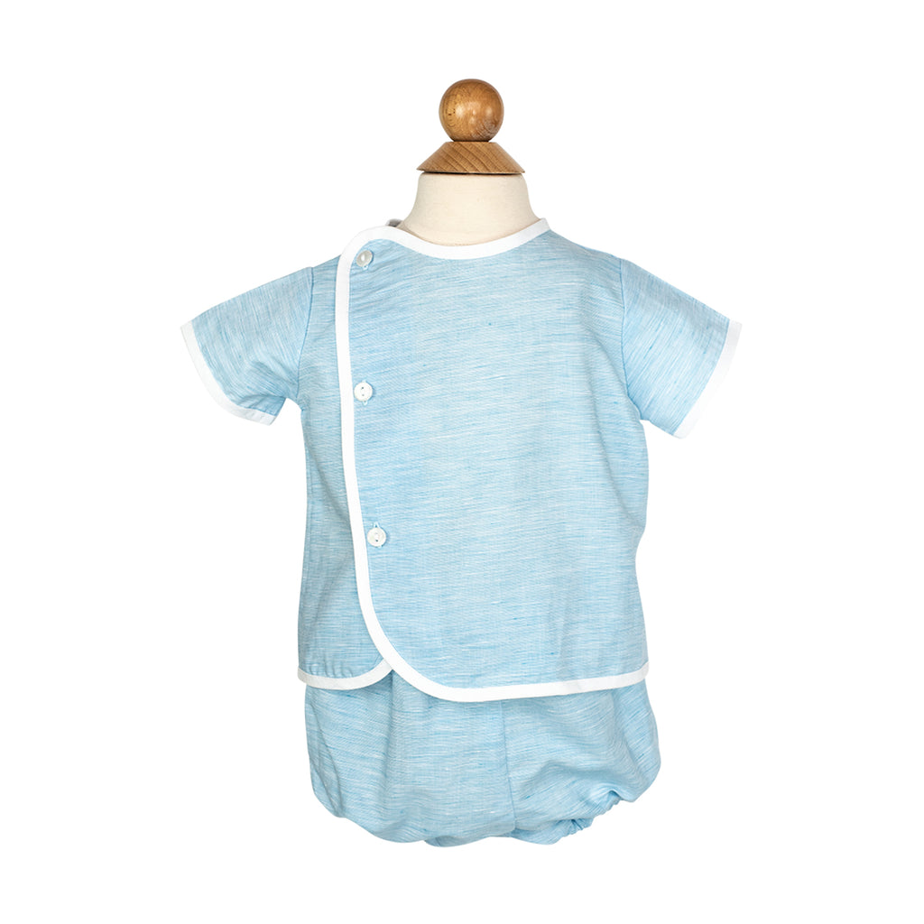 Bobby Apron Shirt Sample Size 1 Turquoise Strie
