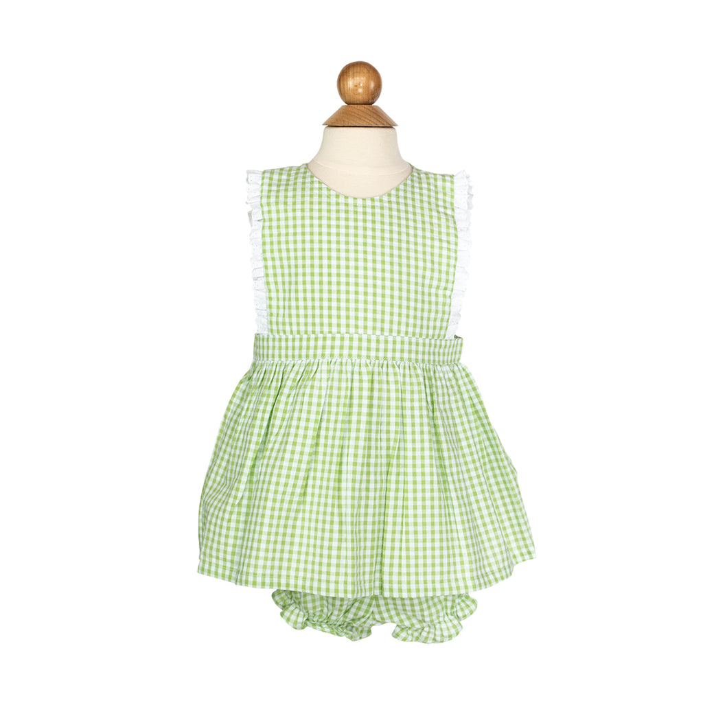 Shannon Outfit Sample- Size 2 Sprout Gingham
