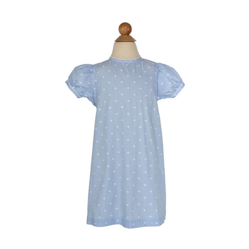 Lane Dress Sample Size 3 Blue with White Dots