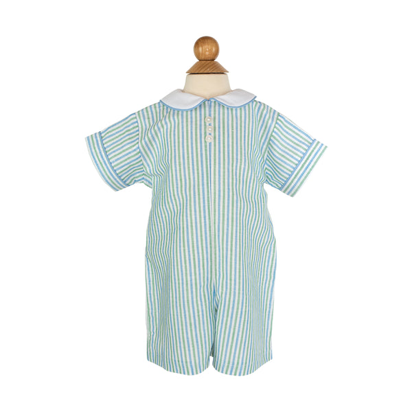 Lewis Playall Sample- Size 18M in Water Stripes