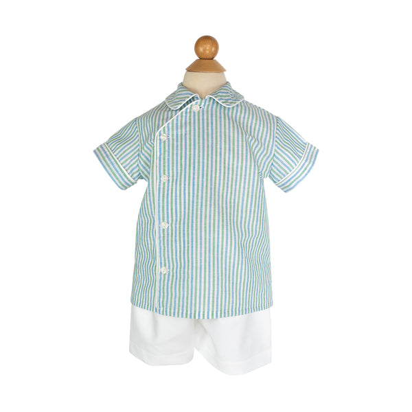 Henry Shirt Sample- Size 2 Water Stripes