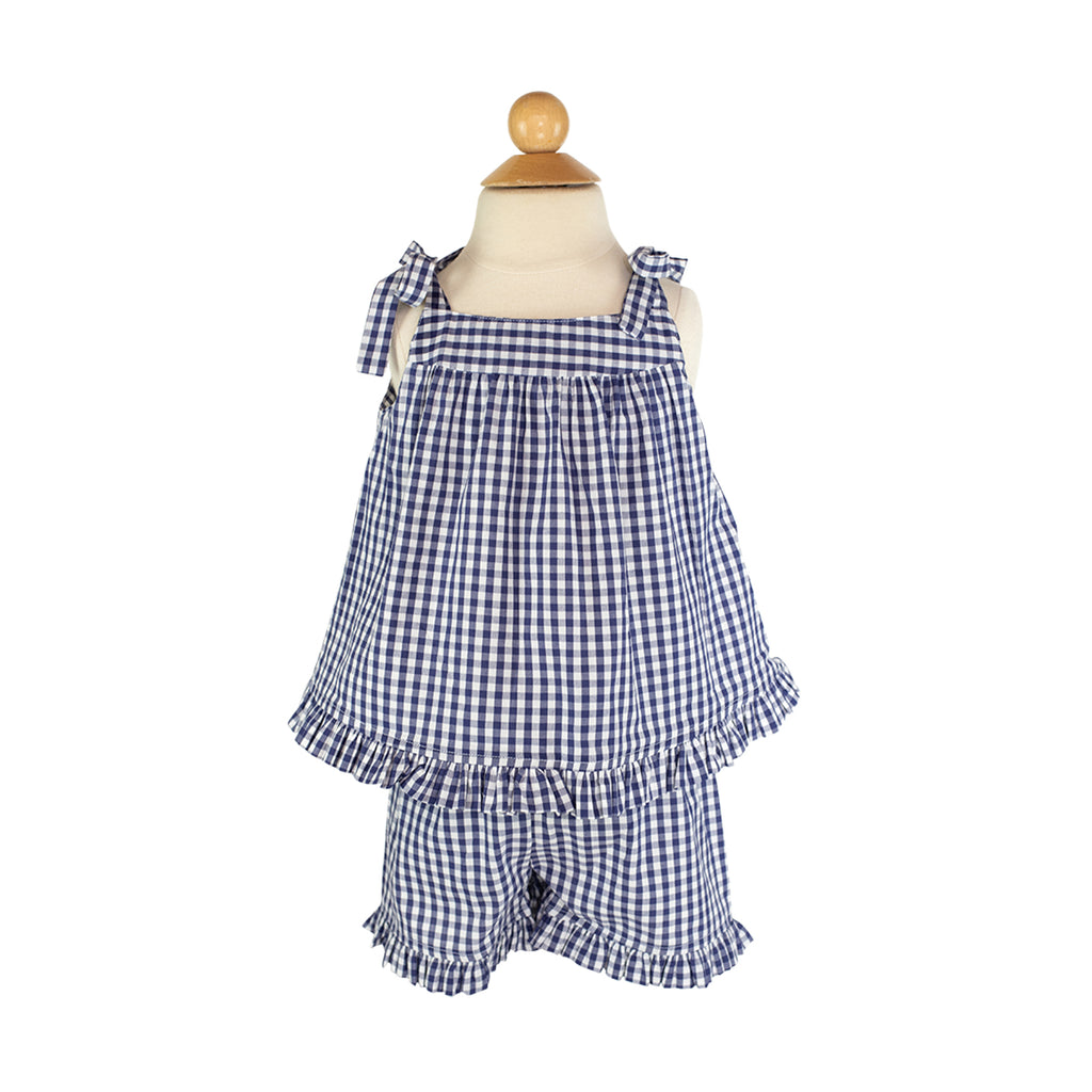 Emily Top Sample Size 3 Navy Gingham