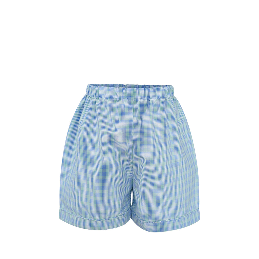 Westh Short Sample Size 3 Celery Indigo Plaid