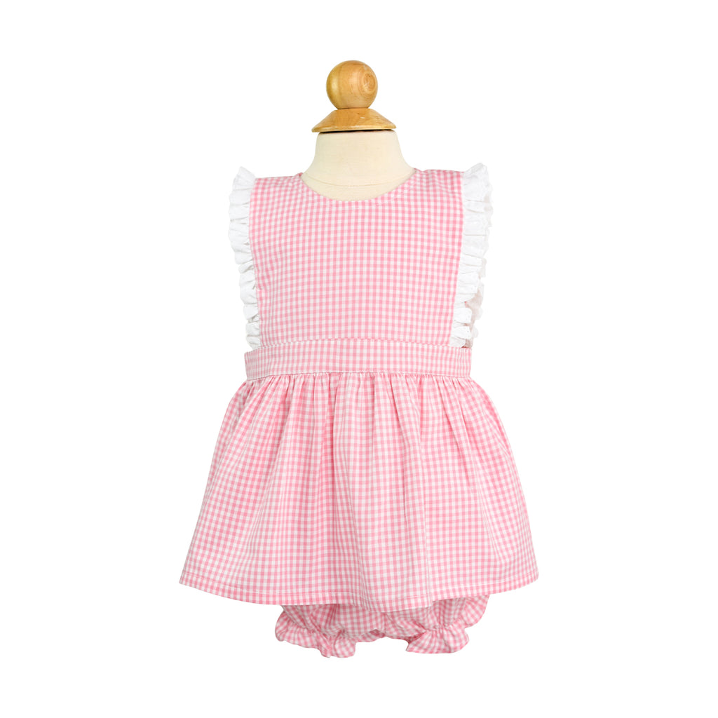 Shannon Outfit Sample Size 12m Cotton Candy Gingham