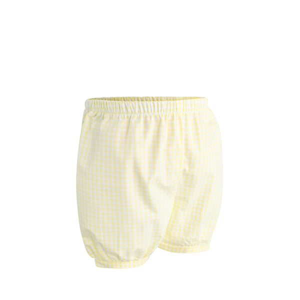Brice Bubble Short Sample Size 18m Yellow Gingham