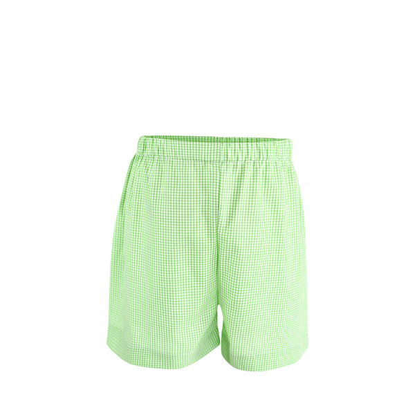 Ethan Short Sample Size 2 Grass Gingham
