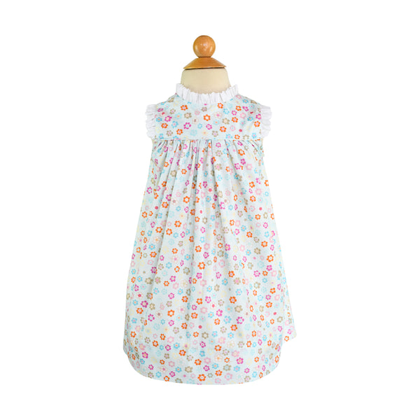 Jaci Dress Sample Size 3 Retro Flowers