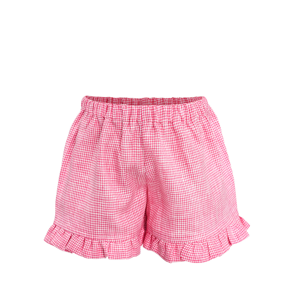Missy Short Sample Size 2 Raspberry Linen Gingham
