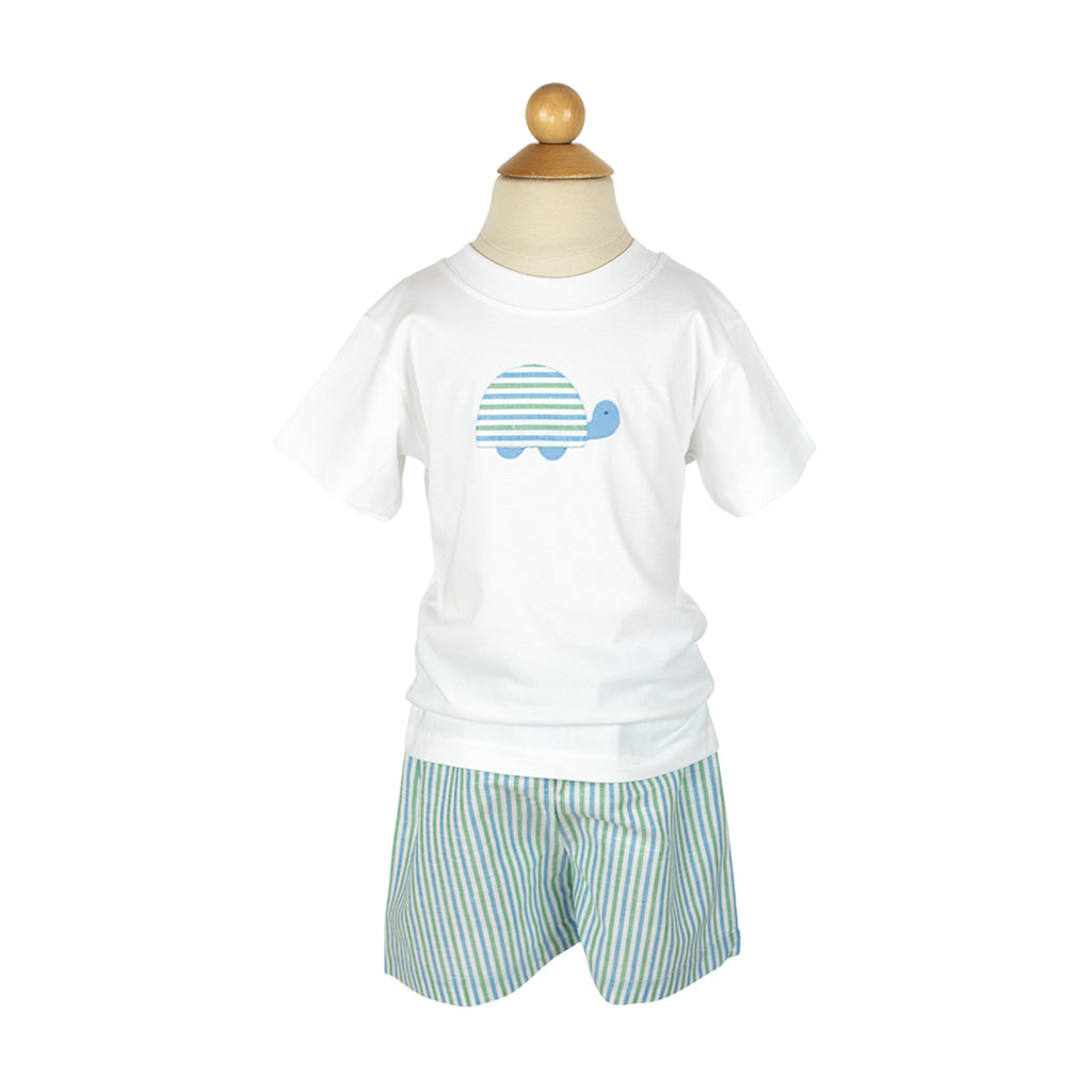 Ethan Short Sample- Size 4 Water Stripes
