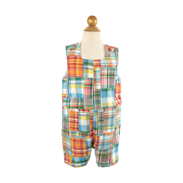 George Overall- Orange Plaid