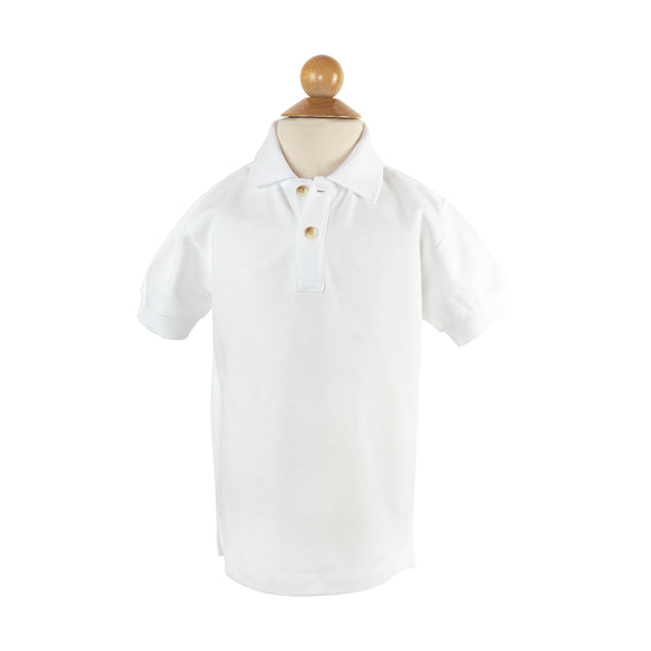 Polo - White Cotton