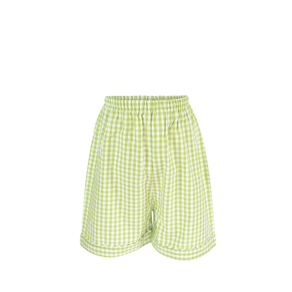 *Westh Short - Green Gingham